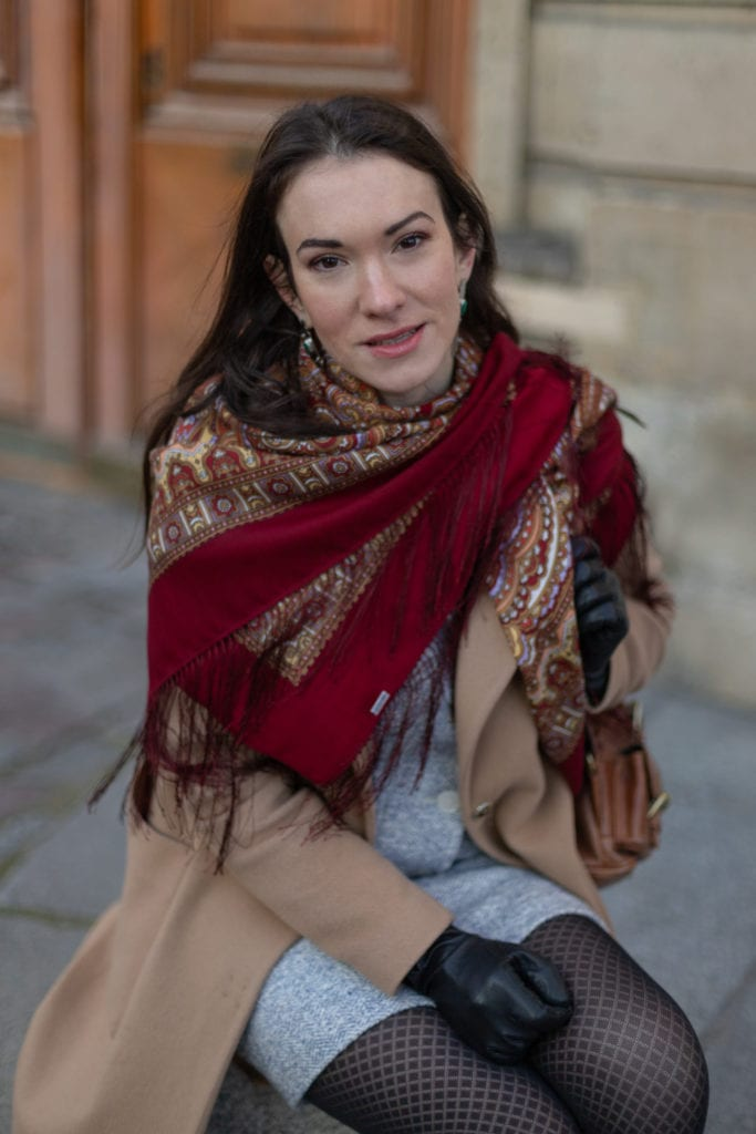 foulard et châle russe