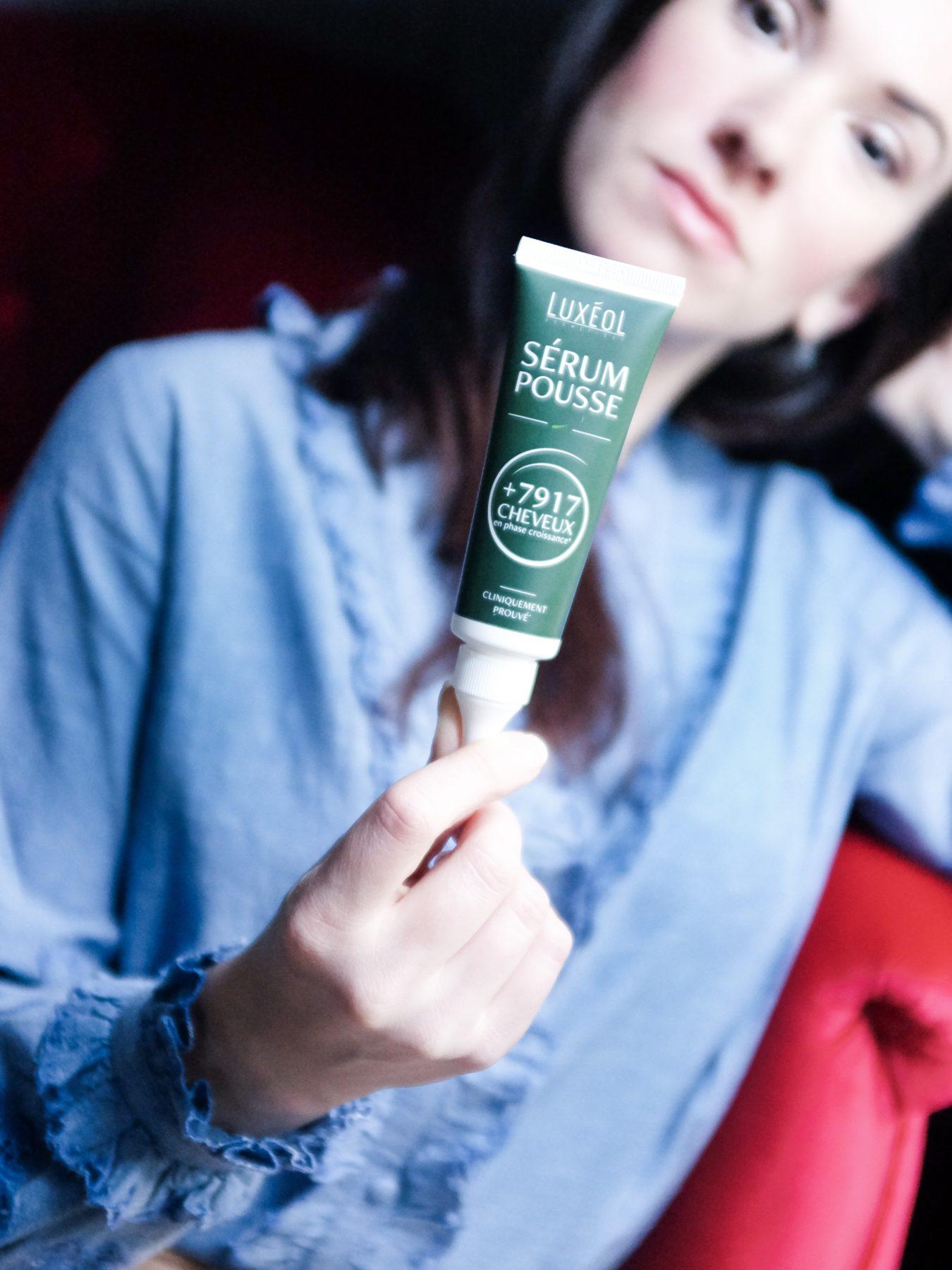sérum pousse de cheveux Luxeol