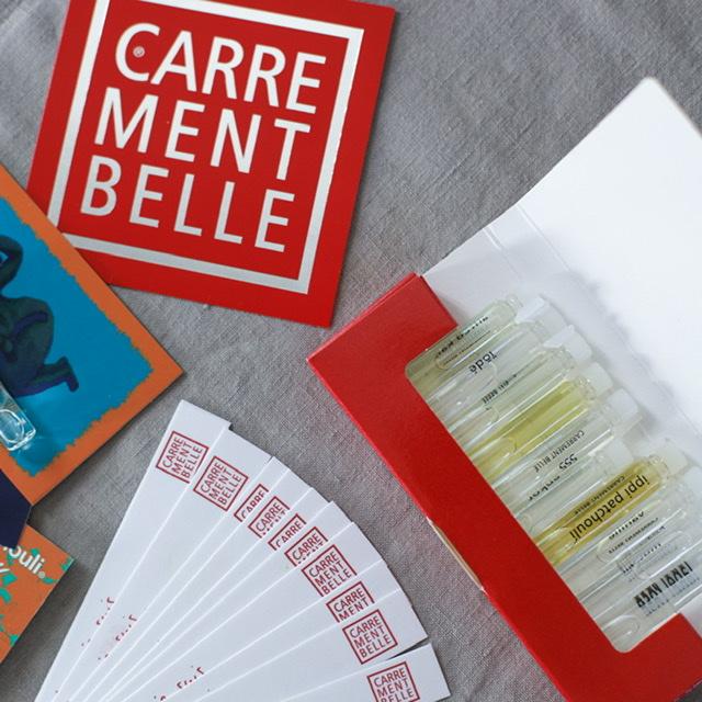 échantillons parfums Carremment Belle