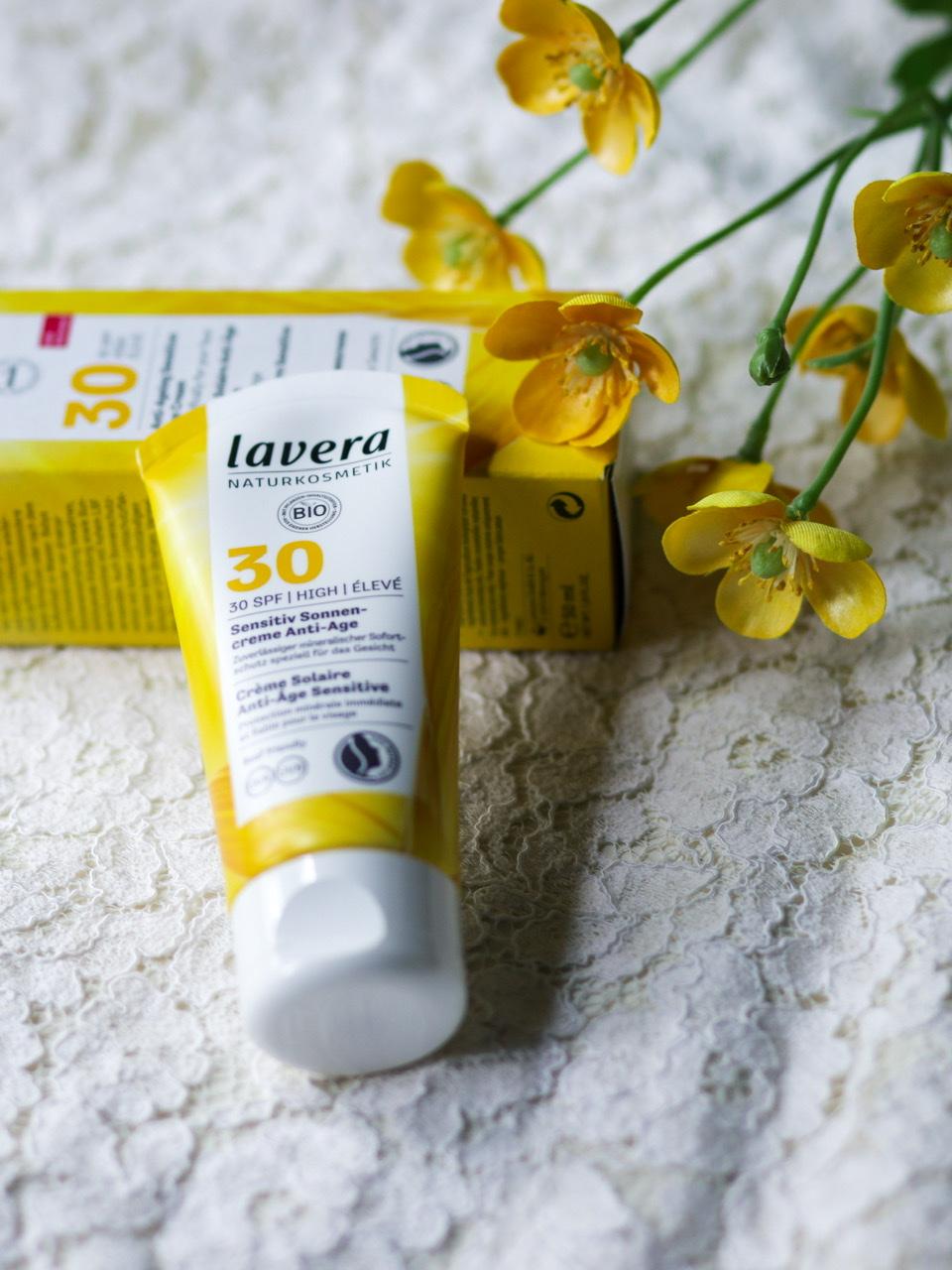 crème solaire bio Lavera SPF30