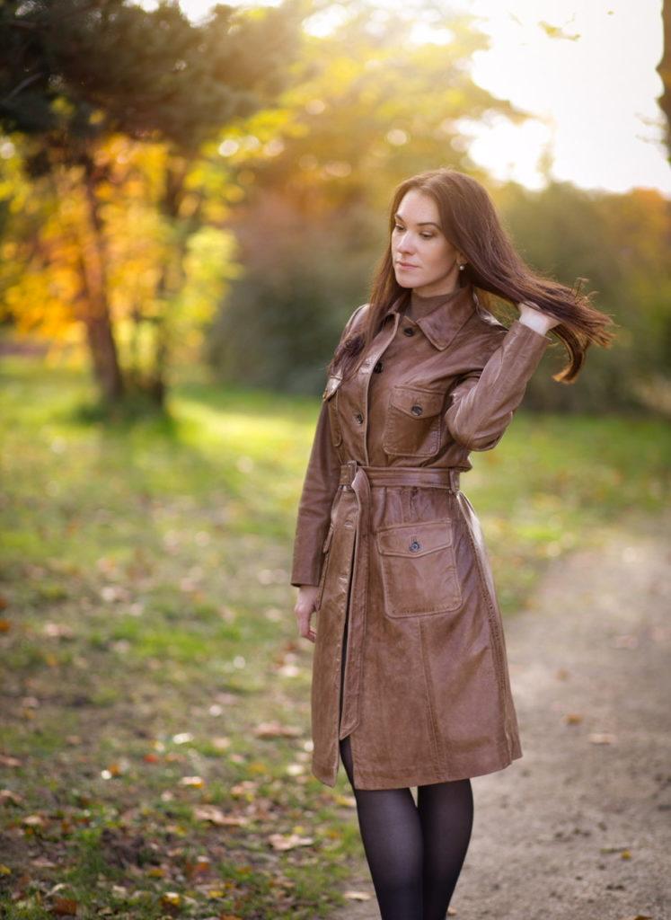Manteau en cuir Gerard Darel