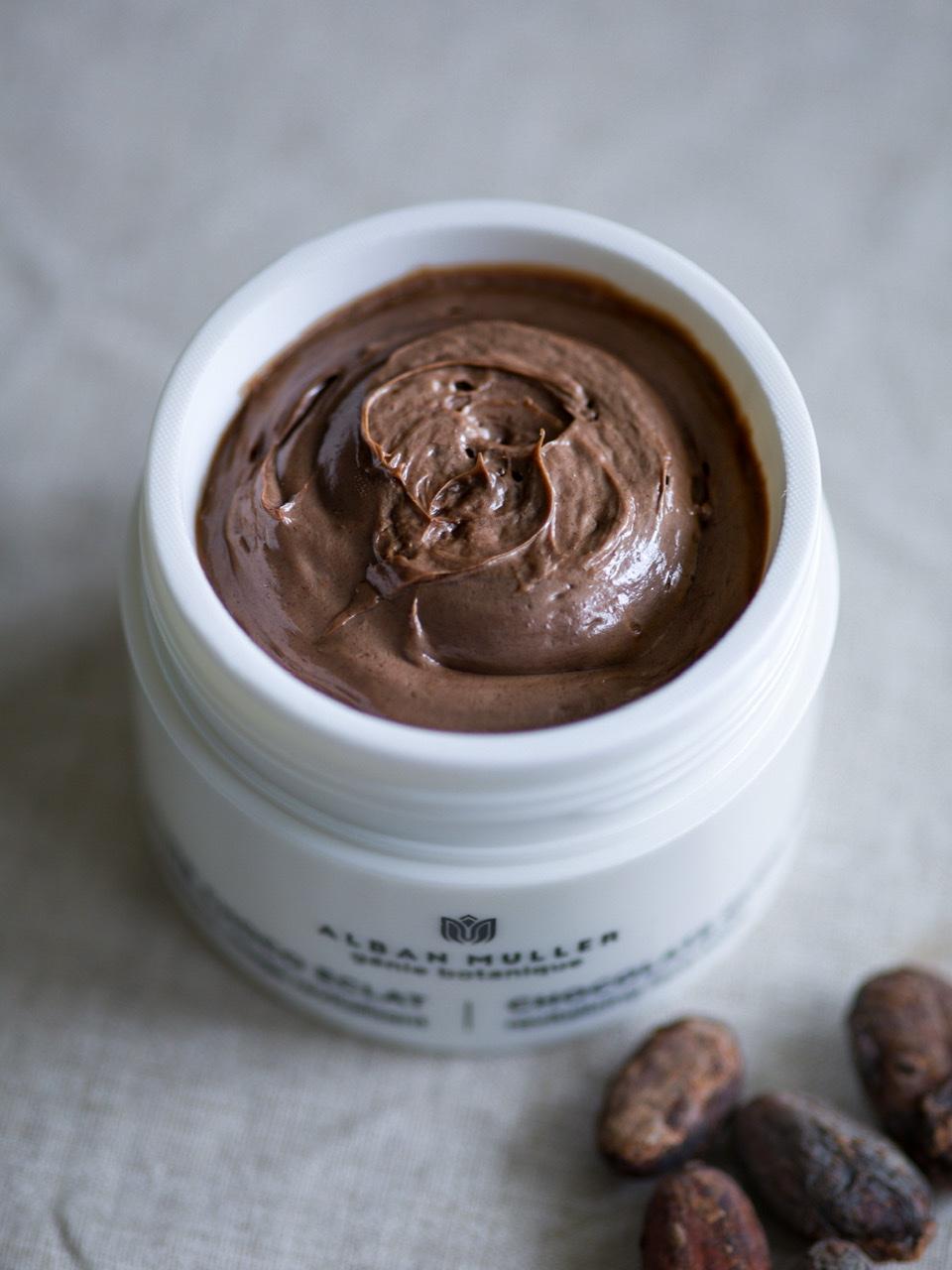 Alban Muller masque au chocolat
