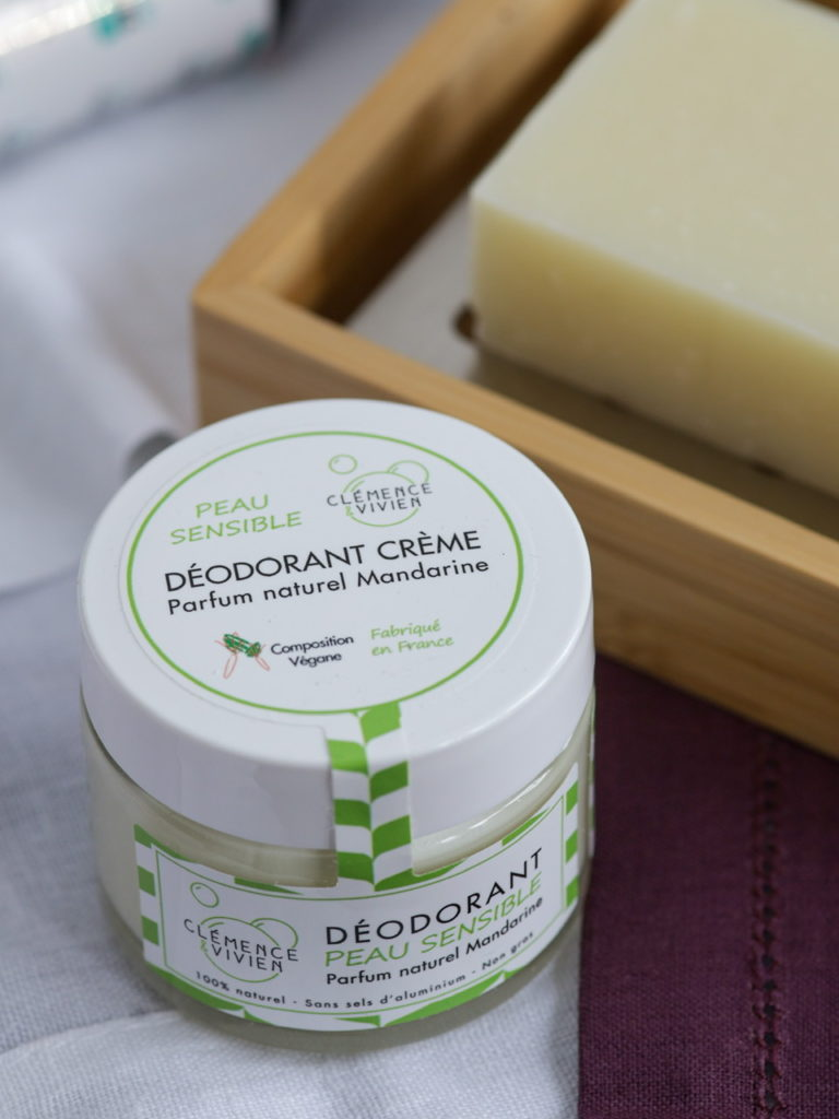 Déodorant bio Peau sensible Clémence & Vivien, parfum Mandarine